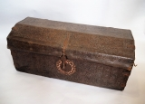 17th Cent. Peruvian Embossed Leather Trunk