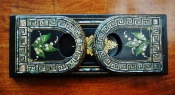 Victorian Mother of Pearl inlaid Papier Mache Bookstand