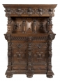Large Finely Carved Oak 19th C. Antwerp Cabinet