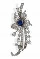 Diamond and Sapphire Pendant/Brooch