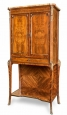 Louis XVI Style Brass Mounted Inlaid Cabinet