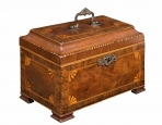 Ornate George III Mahogany Tea Caddy