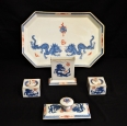 Meissen MIng Dragon Pattern Desk Set
