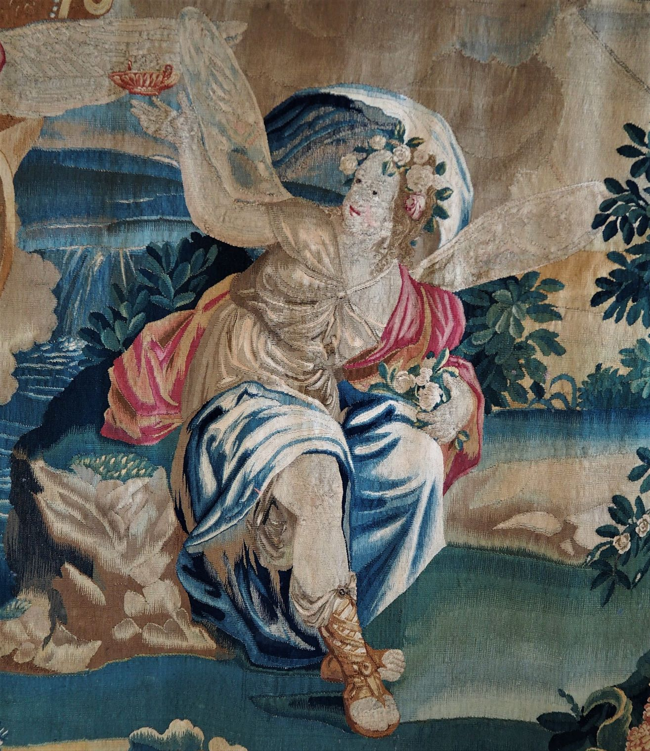 17th Century Gobelins Tapestry Flora and Zephyr - McPherson Antiques